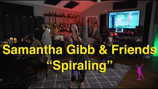Samantha Gibb & Friends Perform Spiraling Live @Wearemegrecords