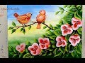 Cute Bird Painting One Stroke Flower Painting Acrylic Painting Tutorial Audio(.mp3 .mp4) Mp3 - Mp4 Download