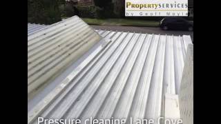 Pressure cleaning a roof in Lane Cove