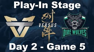 [2017 Worlds] Play In - D2 G5 - ONE vs DW -  League of Legends - Team oNe Esports vs Dire Wolves