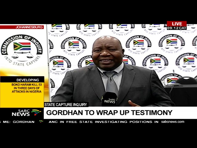 State capture inquiry    Gordhan to wrap up testimony