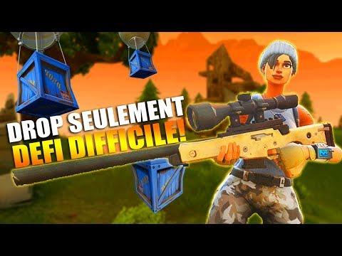 LE DEFI DROP *SEULEMENT* DEFI! (DIFFICILE) FORTNITE Battle Royale