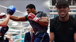 ANTHONY JOSHUA SHOWS OFF DEVASTATING POWER; HAS MESSAGE FOR FANS (KLITSCHKO TRAINING MONTAGE)