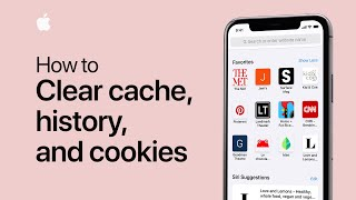 How to clear your cache, history, and cookies on your iPhone, iPad, or iPod touch — Apple Support