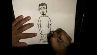 How to Draw a Simple Character (step by step) - For Kids