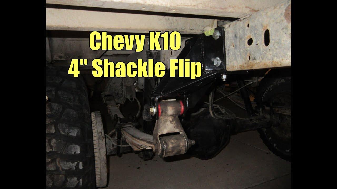 Chevy K10 Shackle Flip Youtube