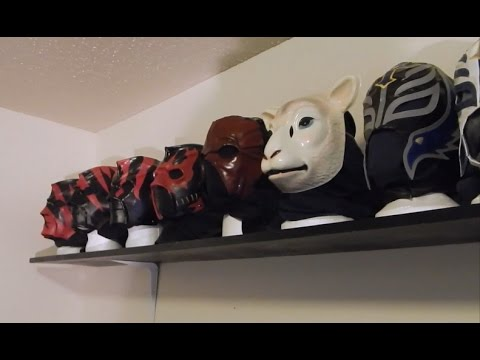 WWE Wrestling Mask Collection Nikon CoolPix L830 Test