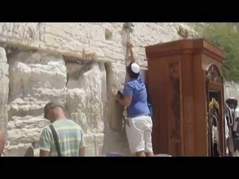 The mystery of the Western Wall (Wailing Wall, Kotel), Jerusalem. Tour guide: Zahi Shaked 20.08.2012