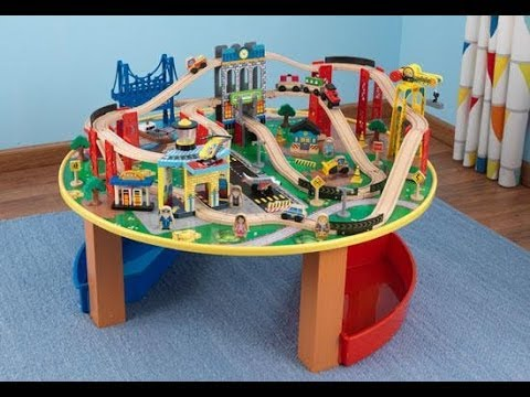 KidKraft City Explorer Train Set u0026 Table | 17985 & KidKraft City Explorer Train Set u0026 Table | 17985 - YouTube