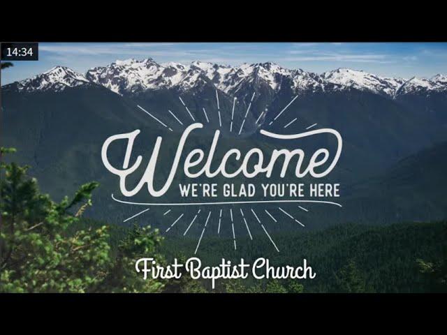 Sunday Worship Service - September 27th, 2020