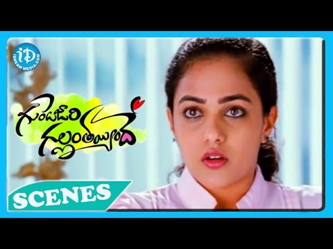 Nithya Menon Nice Scene - Gunde Jaari Gallantayyinde