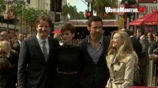 Hugh Jackman, Anne Hathaway, Amanda Seyfried Hollywood Walk Of Fame Ceremony