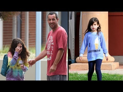 Adam Sandler's Daughters Sadie Sandler  Sunny Sandler : 2017