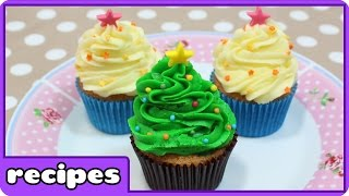 DIY Christmas Treats | Christmas Tree Cupcakes | Learn How To Cook With HooplaKidz Recipes