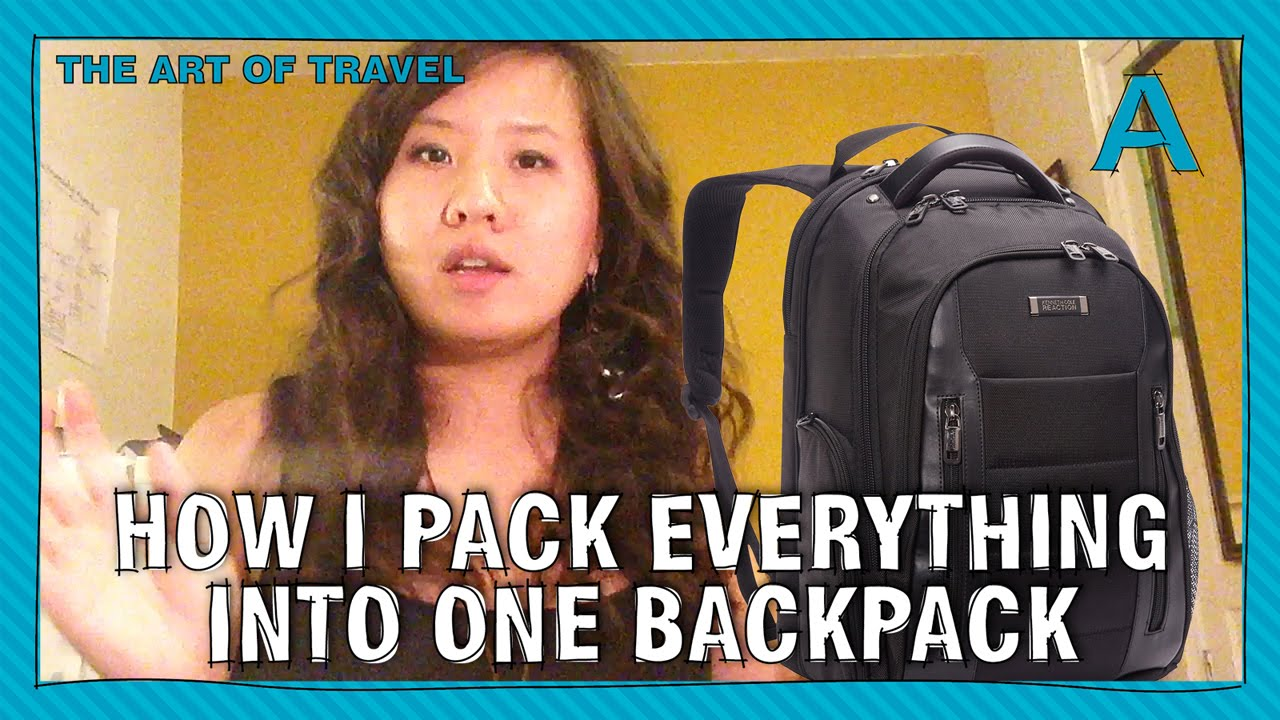 9793b2930e8b How to pack everything into one backpack (for vacation ...