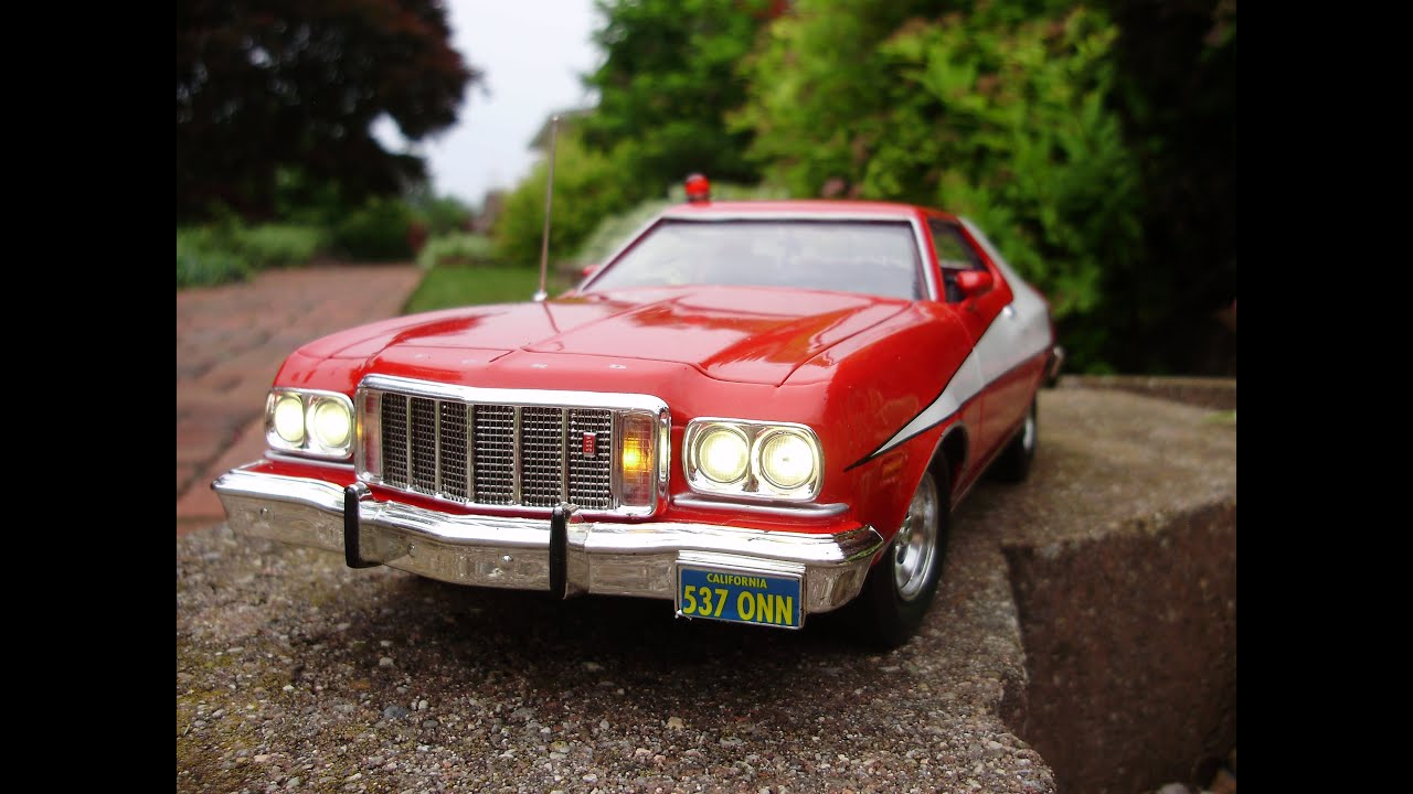 william 39 s 1974 ford torino starsky and hutch diecast w. Black Bedroom Furniture Sets. Home Design Ideas
