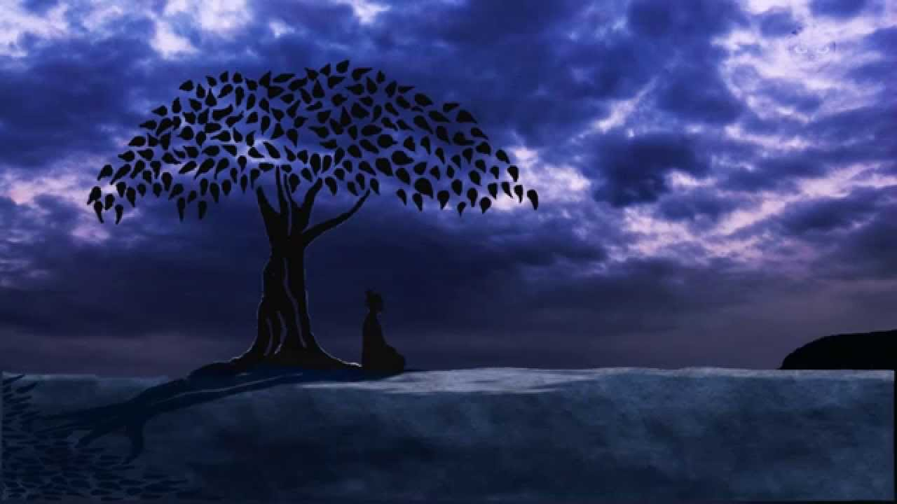 Buddha meditation music under the bodhi tree youtube - Meditation art wallpaper ...
