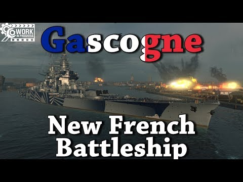 World of Warships: Gascogne Preview - New French Battleship