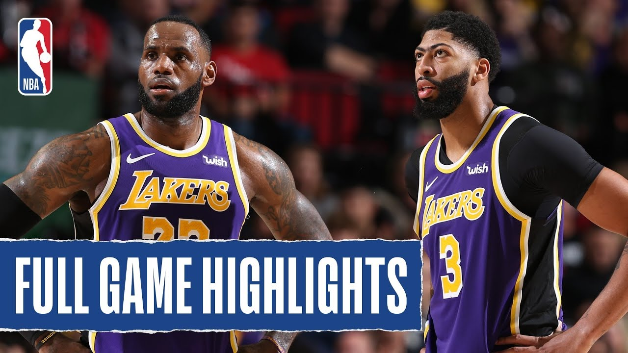 Lakers At Trail Blazers Full Game Highlights December