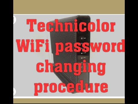 HOW TO CHANGE TECHNICOLOR WIFI PASSWORD with new Updates