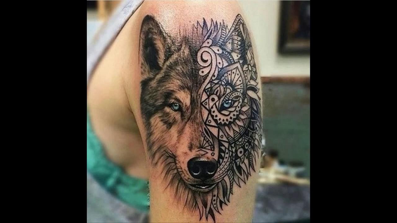 Geometric Tattoo Wolf - YouTube