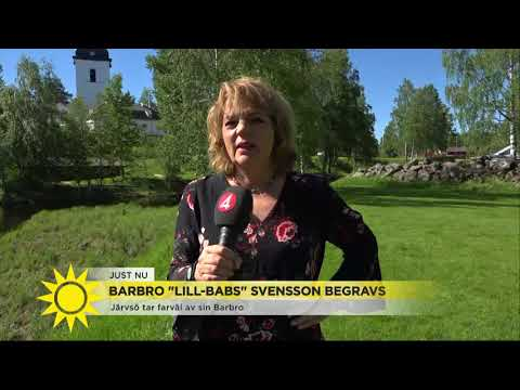 Järvsö tar farväl av Lill-Babs: Ett hav av blommor - Nyhetsmorgon TV4