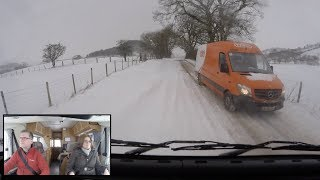 Driving an RV in the Snow Storm - Beast from the East
