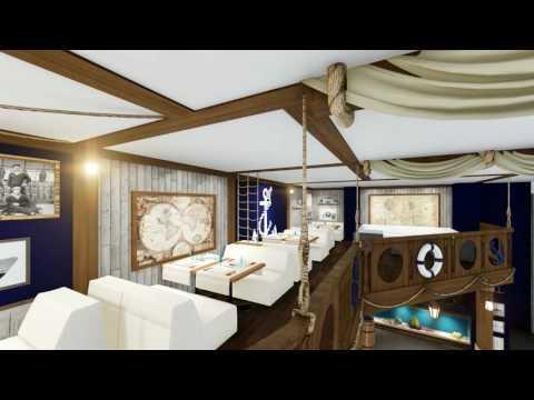 "Restaurant ""Ocean"" using Nautical Style"