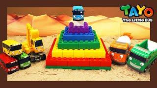Мощные большегрузные автомобили l Изучай Цвета с Радужной Пирамидой l Приключения Тайо