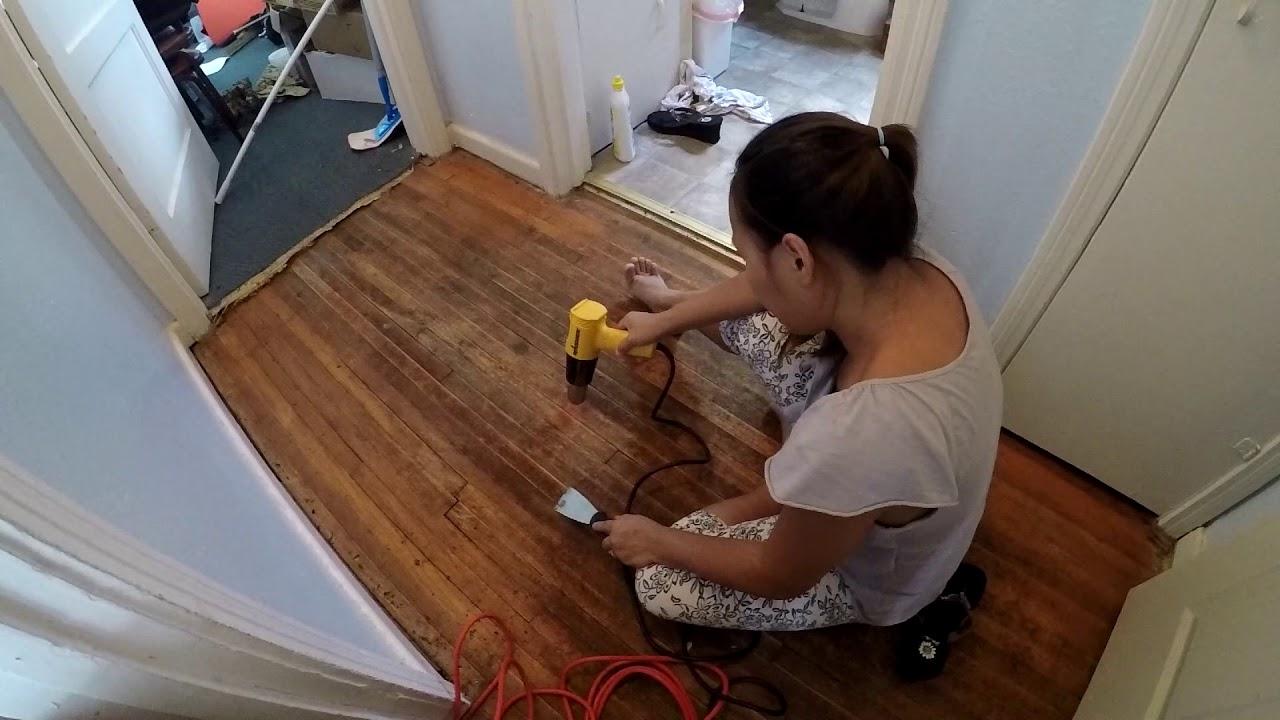 Removing Carpet Glue With A Heat Gun