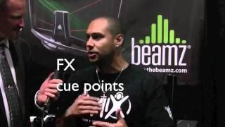 dj creme uses traktor to mix and dj with beamz laser controller technology d6