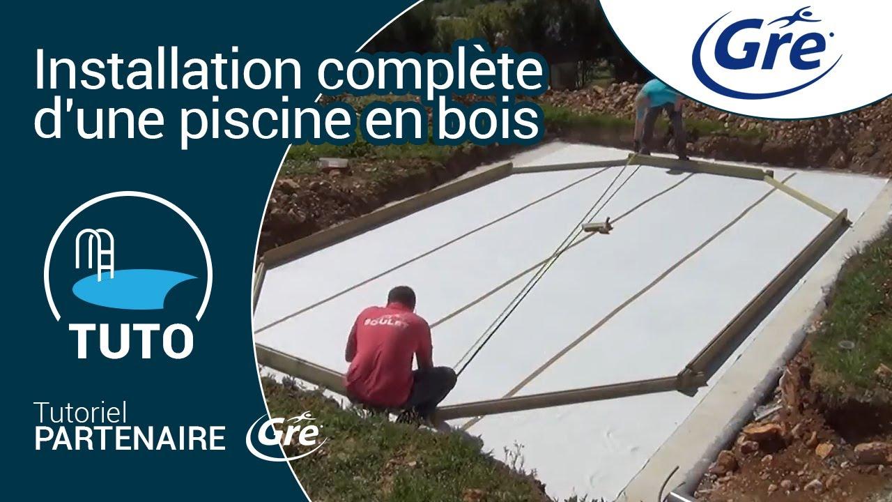 Terrassement coulage dalle et installation piscine sunbay bois youtube - Dalle piscine hors sol ...