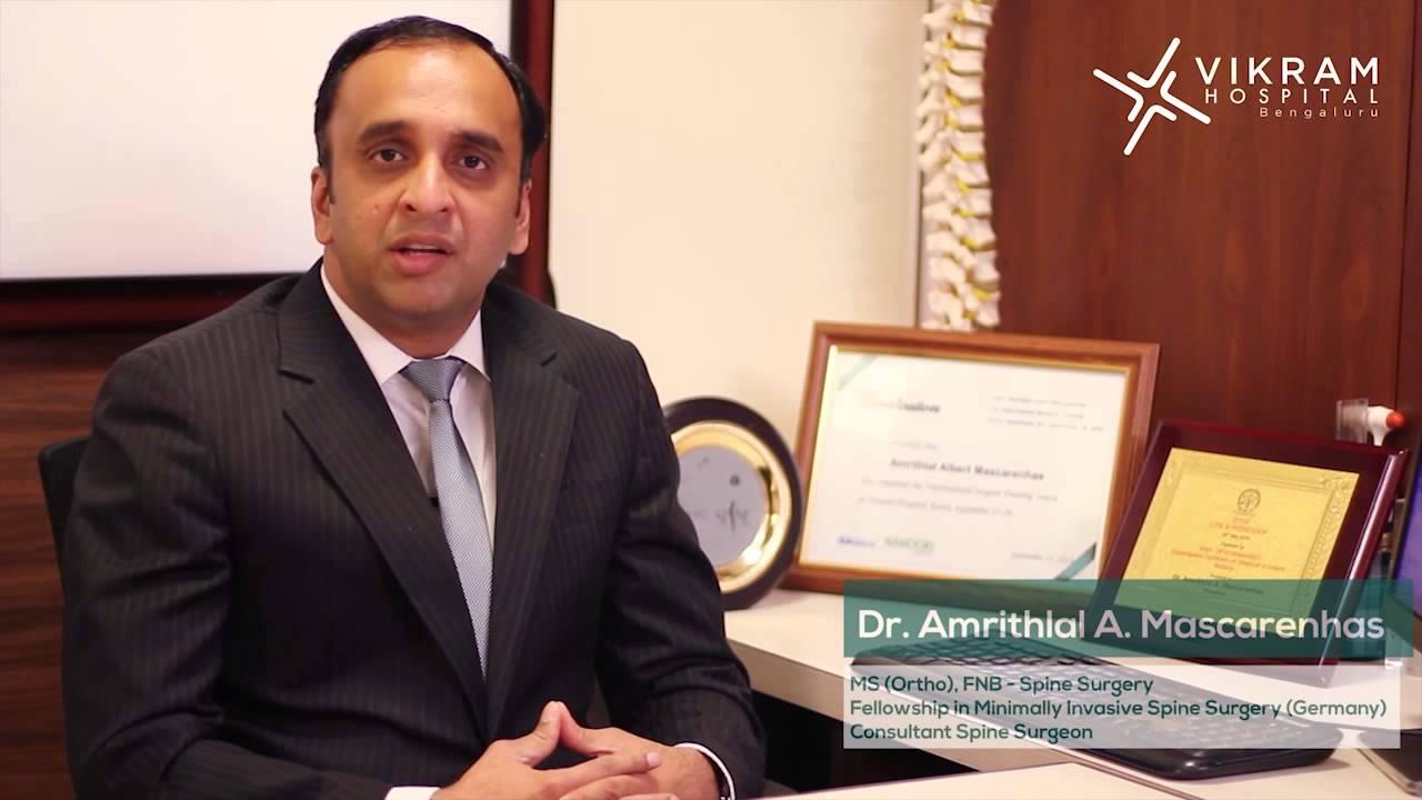 Spine Surgeon, Vikram Hospital: Dr  Amrithlal Mascarenhas