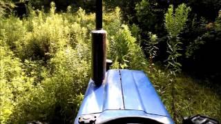 Bush Hogging Heavy Growth on BigCreek