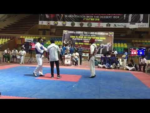 Tong il moo do fight || Tong il moo do national championship freestyle fight delhi vs goa