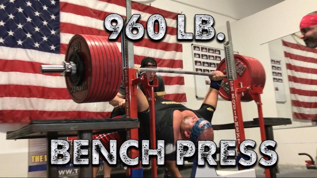 960 Pound Bench Press Youtube