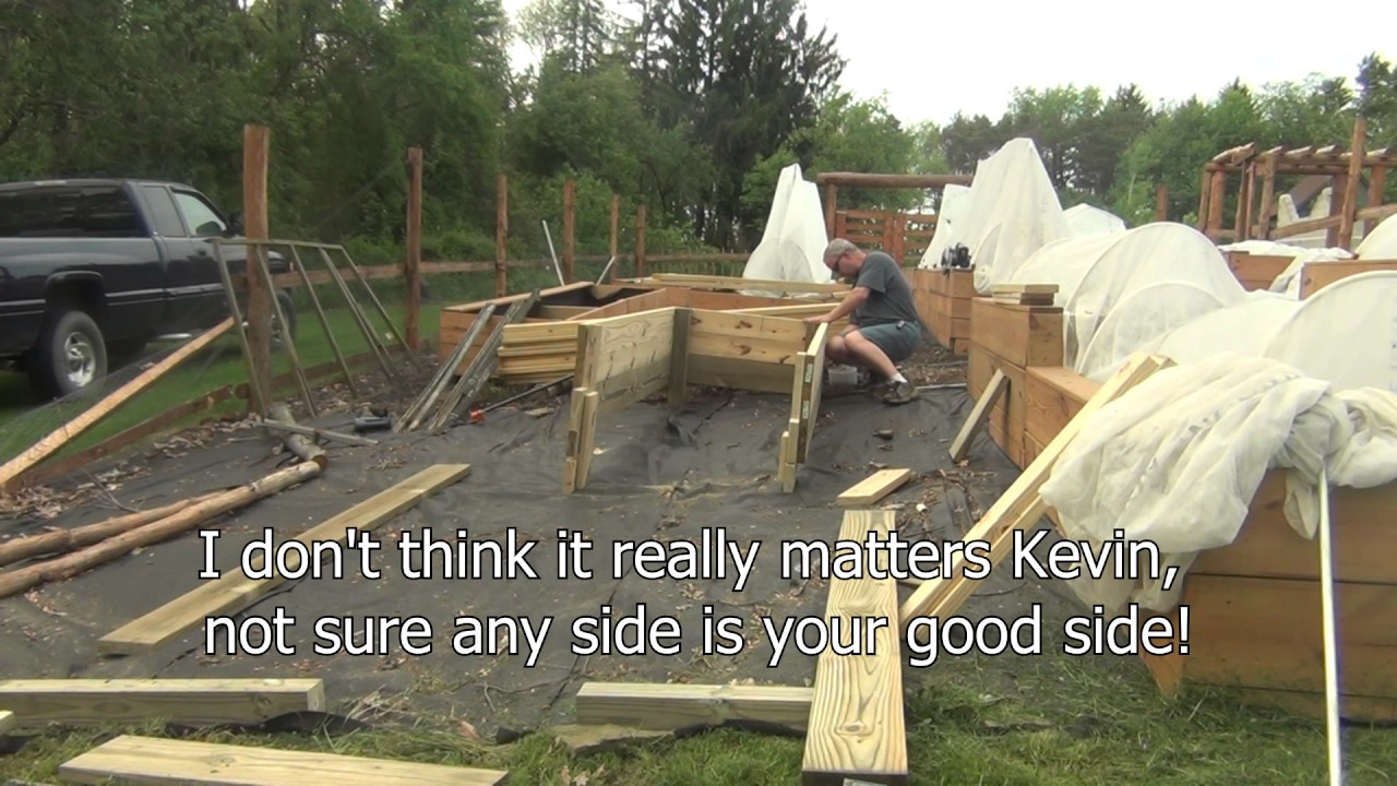How To Build A Raised Bed Garden On Slope Part 1