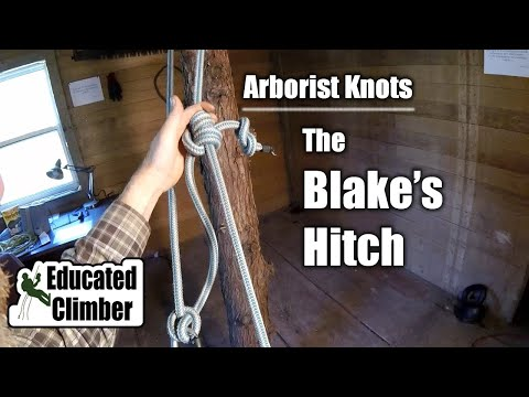 The Blake's Hitch & The Closed Climbing System |  Arborist Knots
