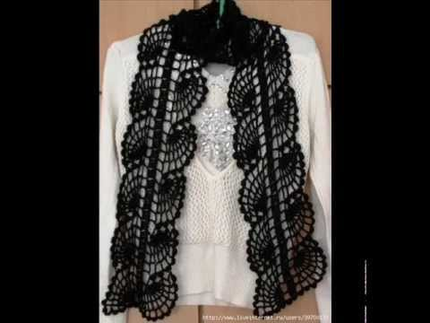how to crochet scarf free pattern. - YouTube