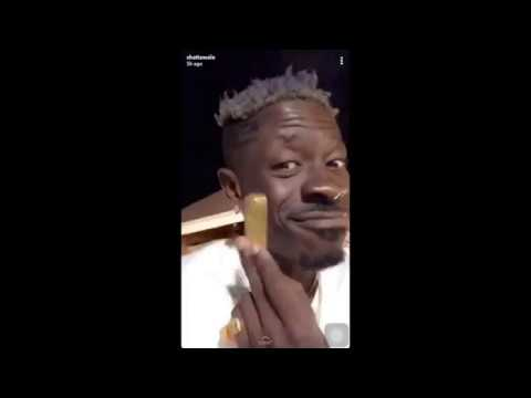 Shatta Wale plays with Pure Gold, sends Shatta Michy love messages..