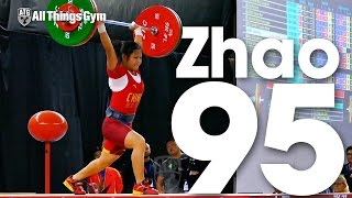 Zhao Jinhong (46.45kg, China, 15 y/o) 95kg Clean & Jerk 2016 Youth World Weightlifting Championships