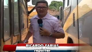 VANDALISMO: Ônibus escolar é apedrejado em Pedreiras-MA.