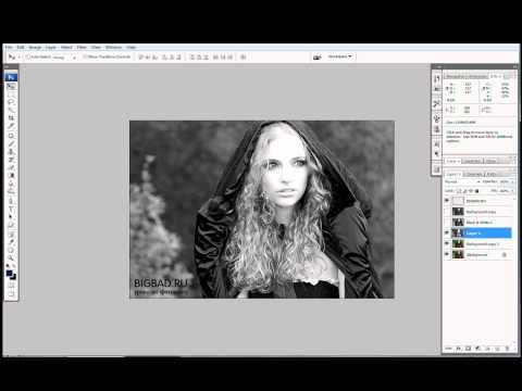 Как получить черно белые фотографии в фотошопе