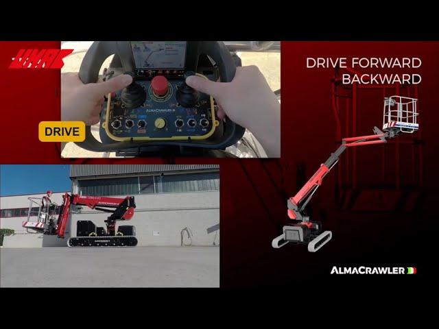 Xe nâng người ALMACRAWLER - Operative controls