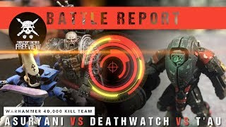 Warhammer 40,000 Kill Team Battle Report: Eldar vs Deathwatch vs T