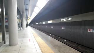 西武40000系40101F試運転 みなとみらい線みなとみらい駅入線~停車~発車