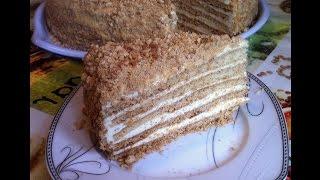 Торт Медовик с Заварным Кремом / Medovik, Honey Cake Recipe / Пошаговый Рецепт
