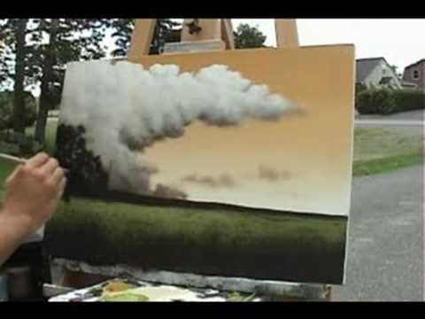 Time Lapse Speed Painting A Landscape By Tim Gagnon Youtube