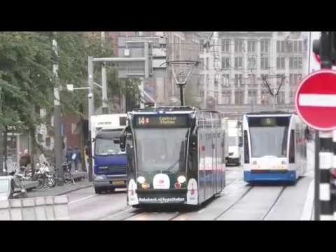 Amsterdam Trams. September 2018