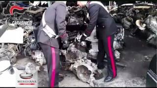 Smontavano e riciclavano auto rubate, 2 in manette al Divino Amore